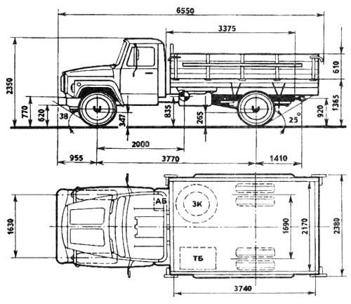 Рисунок 9.5 – Схема автомобиля